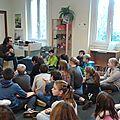 Rencontre des 6B avec l'auteur Philippe Lechermeier