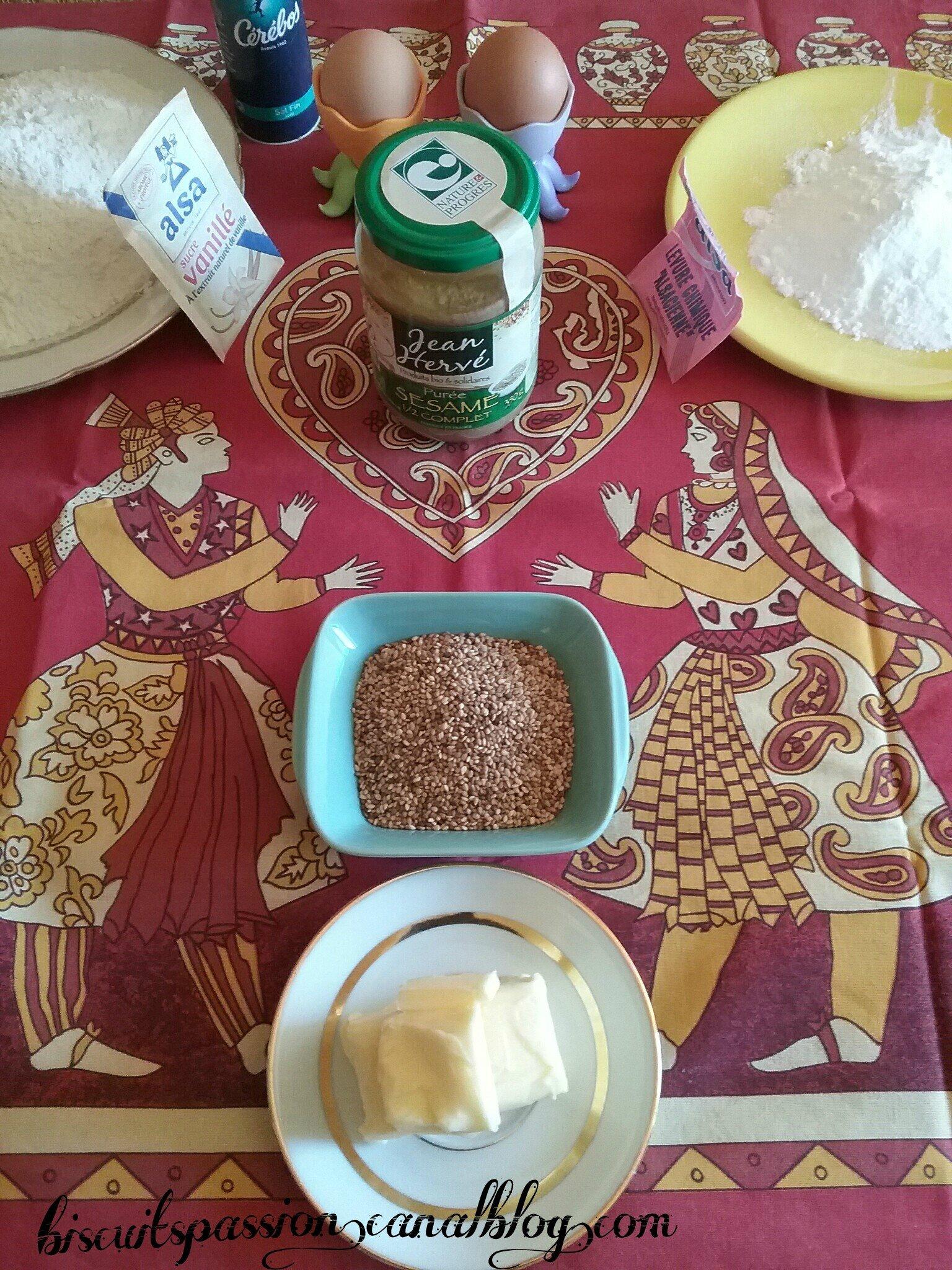 Biscuits à la crème de sésame ( Tahiné ) 057