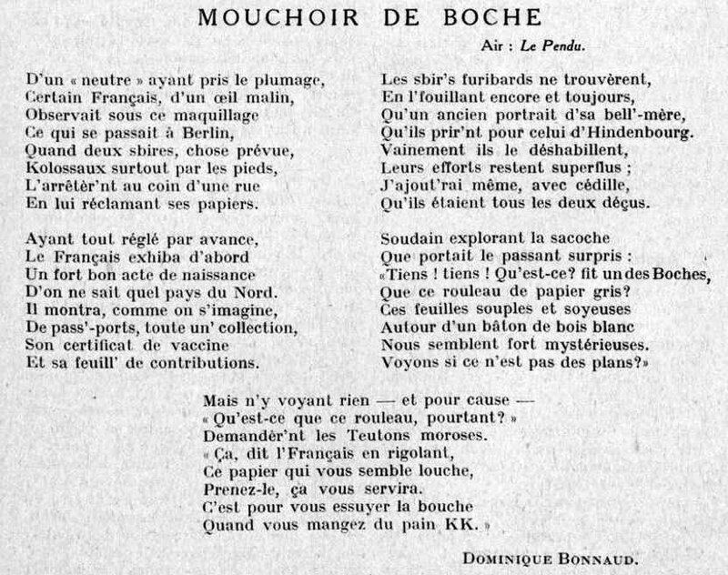 Bonnard mouchoir boche