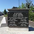 Le monument rappelant le 20 janvier 1944, sabotage du laminoir