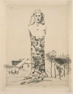 Bracquemond, le buste de la République par H