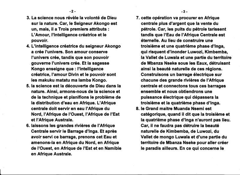 LE GRAND MAITRE MUANDA NSEMI DIT QUE L'AFRIQUE CENTRALE EST LE CHATEAU D'EAU DE L'AFRIQUE b