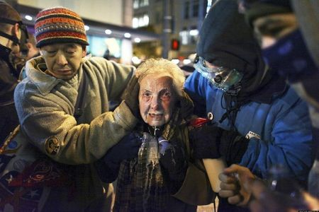 enhanced-buzz-wide-4854-1322857099-43 84-year-old Dorli Rainey was pepper sprayed during a peaceful march in Seattle Washington