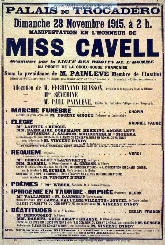 Miss Cavell Affiche