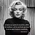 Citation de marylin monroe et luther standing bear