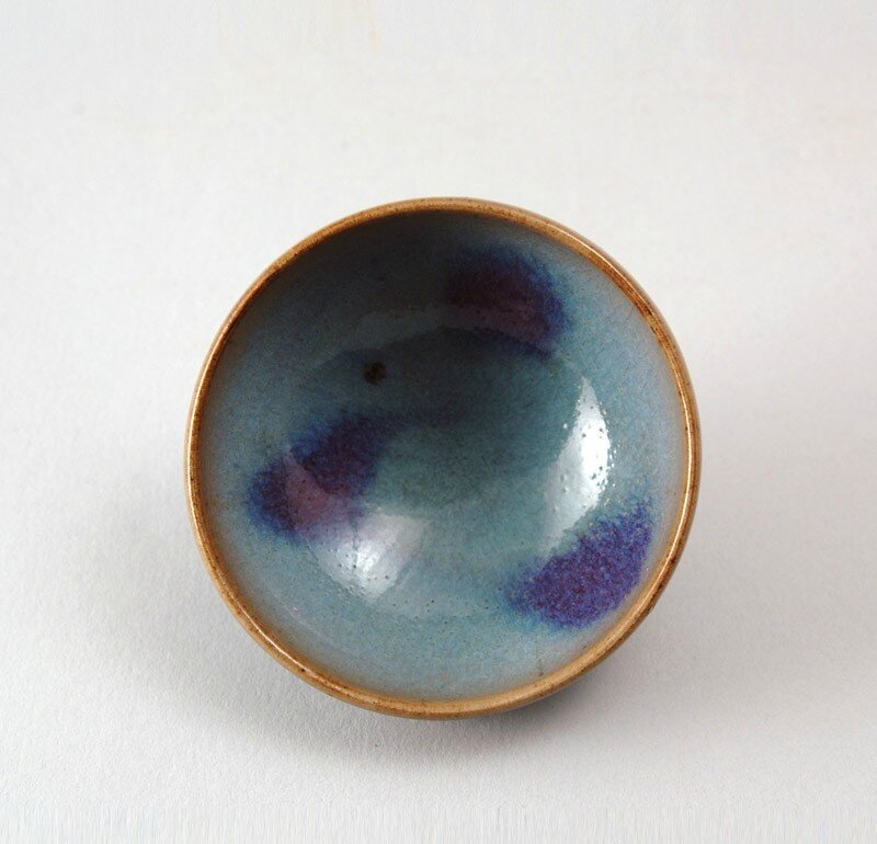 Bowl with blue glaze and purple splashes, Jun kilns, 11th - 12th century, Northern Song Dynasty (AD 960 - 1127)