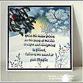 Une carte hivernale - challenge indigoblu / a winter card for indigoblu challenge