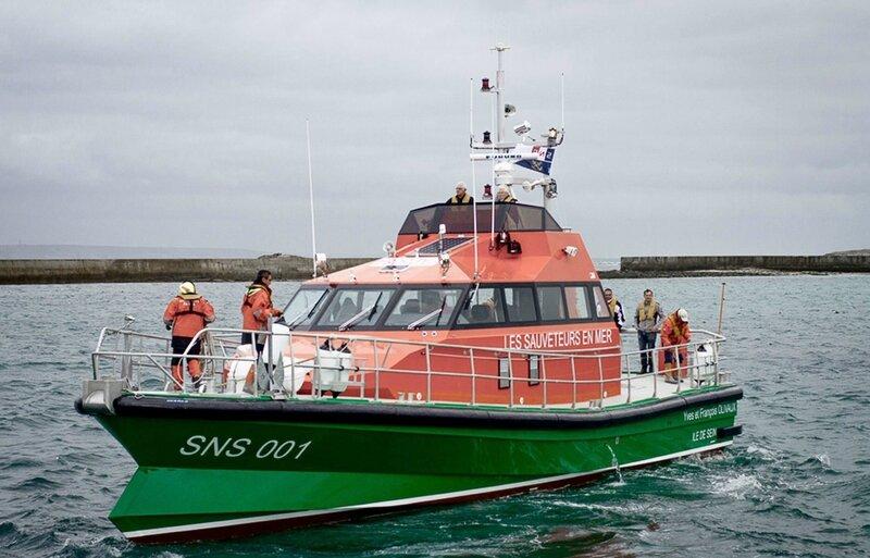 Ch27 - Le canot SNSM Yves et François OLIVAUX - Arrivée à l'ile de sein 07