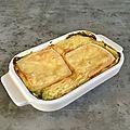 Gratin de purée de pommes de terre aux épinards et restes de raclette