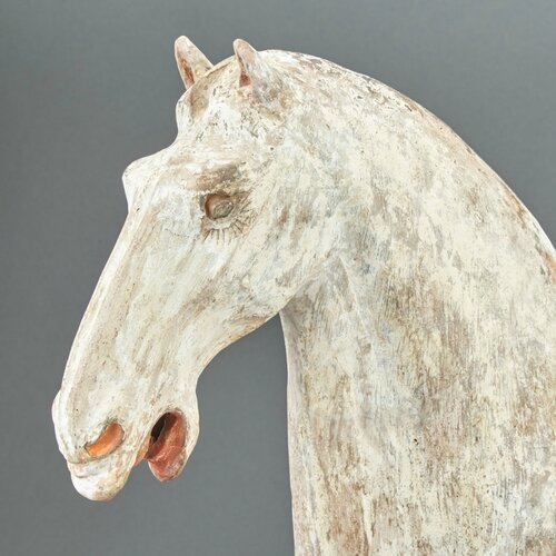 Chinese Painted Pottery Figure of a Prancing Horse, Tang Dynasty2