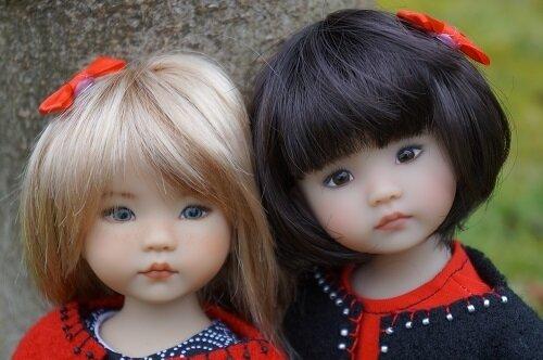 Mes Little Darling en rouge et noir ! Kumiko de Patricia Green