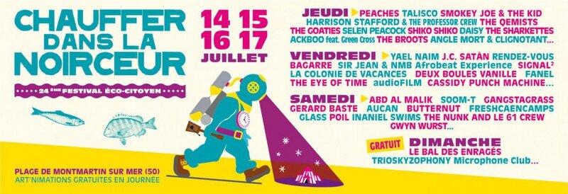 festival Chauffer dans la Noirceur Montmartin affiche 2016 programmation