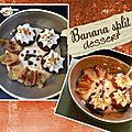 Banana split dessert