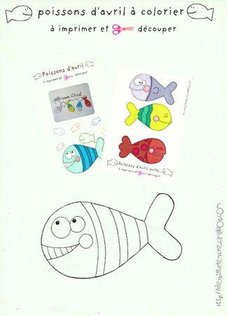 poissons d'avril à imprimer et colorier copie