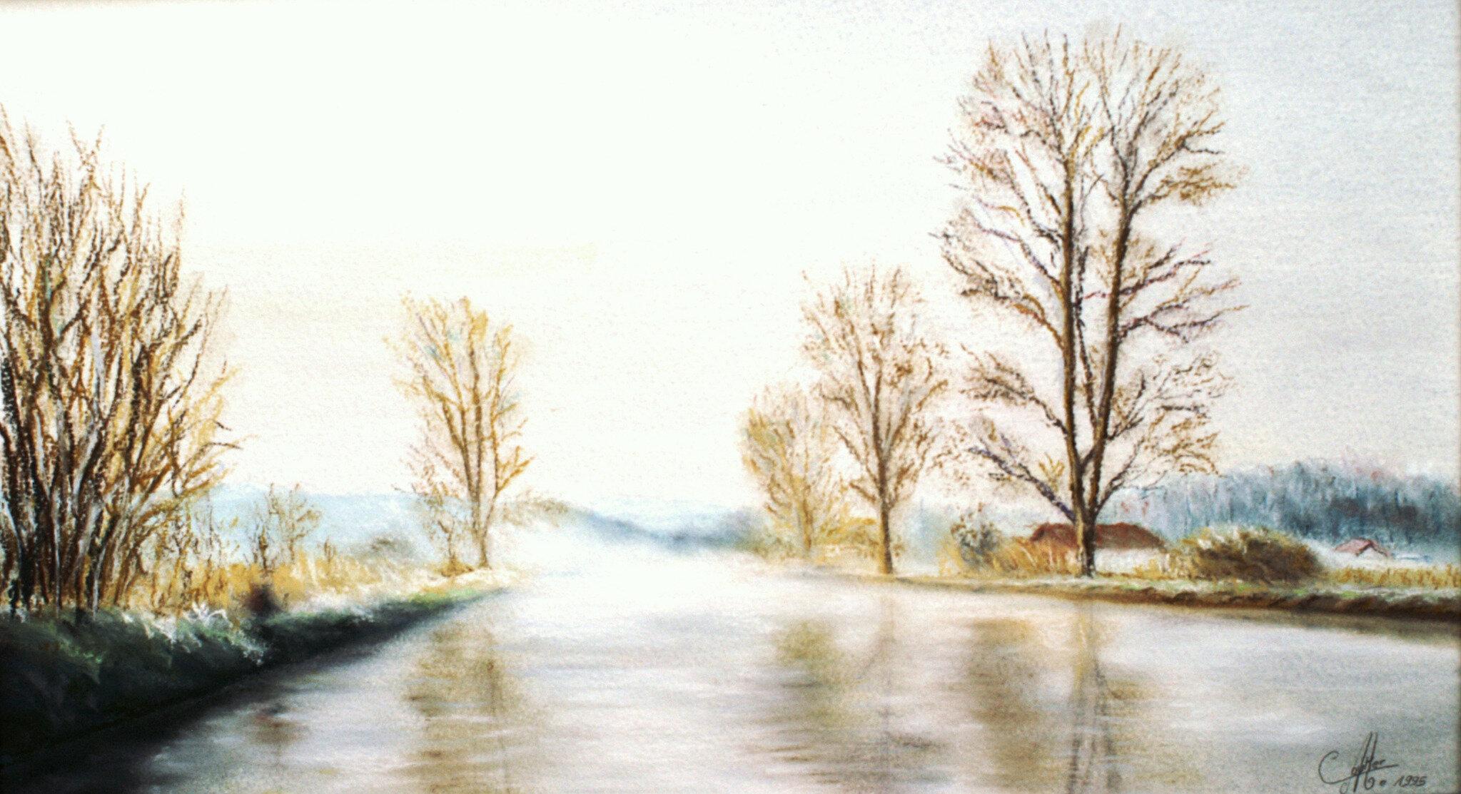 Canal en hiver.