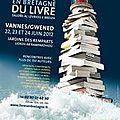 Festival du livre en bretagne de vannes