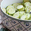 Salade de courgettes crues, comme des coeurs d'artichauts {recette 5 mn chrono}