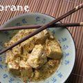 Curry vert de tofu