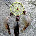 Attrape-rêves artisanal plumes de coq