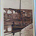 Dinan - barque de pêche au matin