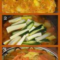 Couscous - préparation des légumes avec la viande