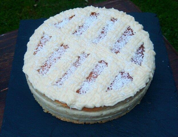 Gâteau ricotta coco ananas-déco