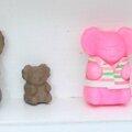 koalas marron et rose et leur BB