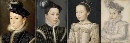 Charles IX, le futur Henri III, Marguerite et François