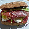 P'tit sandwich mozza parma sans gluten
