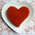 Flan coeur détox pomme poire orange carotte citron betterave cardamome à l'agar-agar (diététique, sans sucre et riche en fibres)