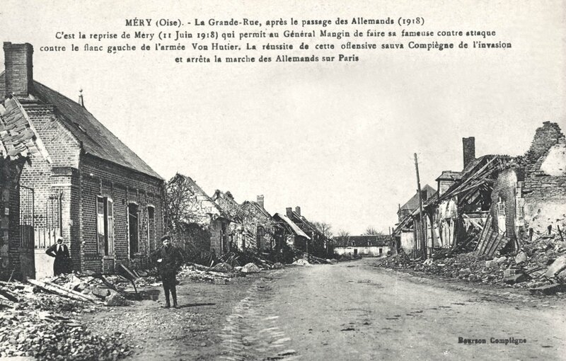 Méry Grande Rue juin 1918