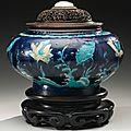 A fahua'lotus' jar, ming dynasty, 16th century