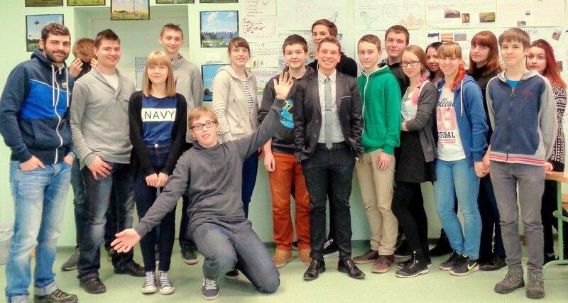 ALVARO and the students