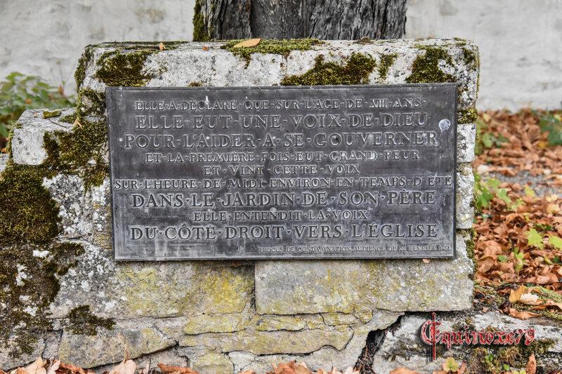 maison natale de Jeanne d'Arc, l'arbre aux voix