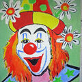 Clown - acrylic painting