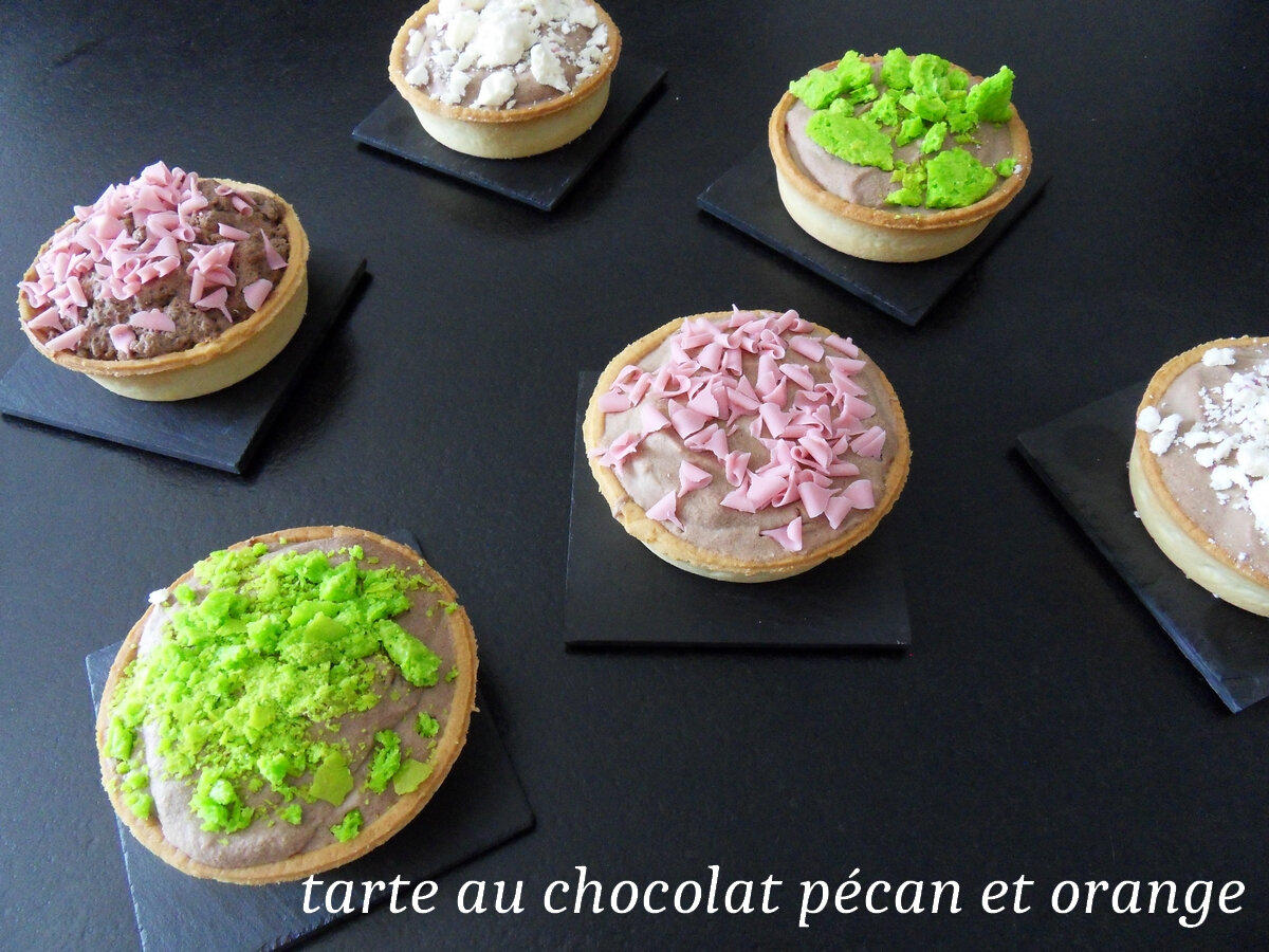 TARTE AU CHOCOLAT PECAN ORANGE