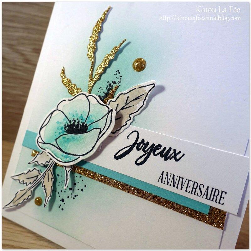 Carte Painted Poppies bleus 7