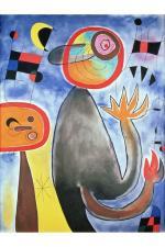 Poster echelles en roues de feu traversant l'azur