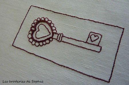 Broderie clé sachet de lavande (1)