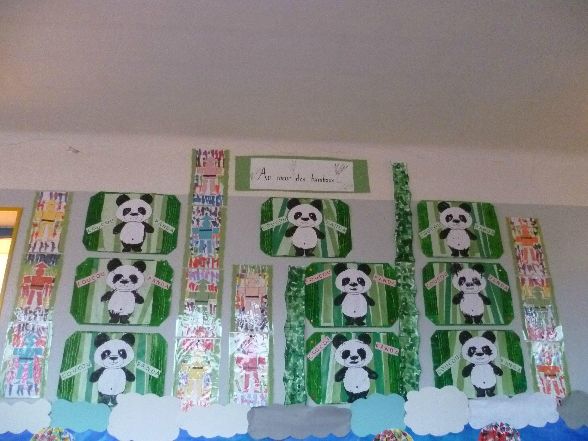 Au coeur des bambous ps l 39 cole c 39 est classe - Coloriage panda maternelle ...