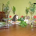mon manège à décoration de table de printemps