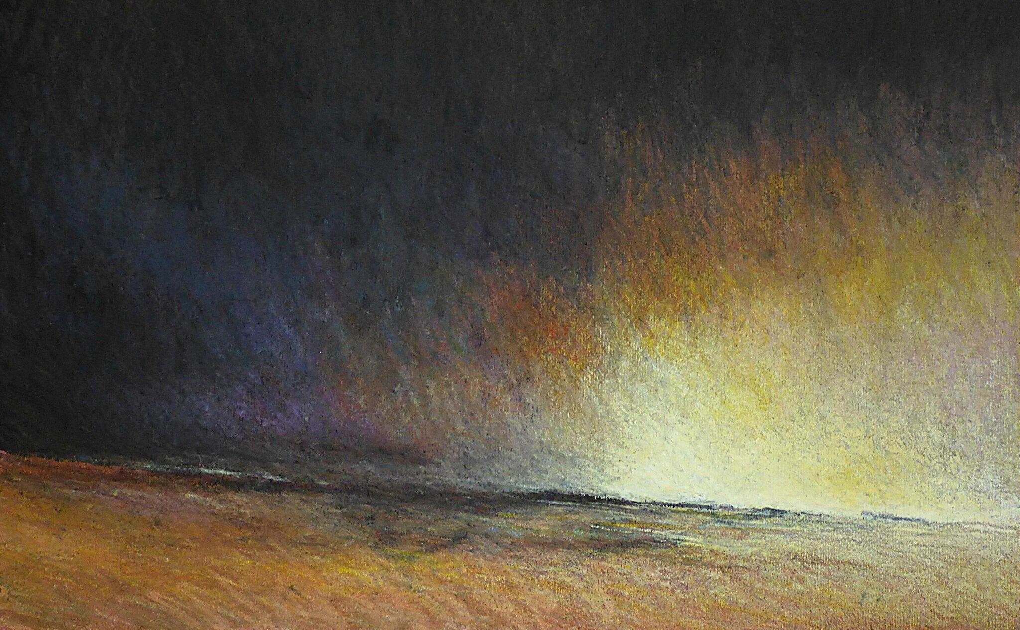 Horizon Elévation #73, pastel à l'huile, 48 x 32 cm, juillet 2016