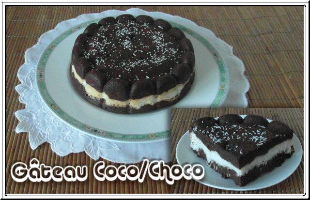 Gâteau choco, coco