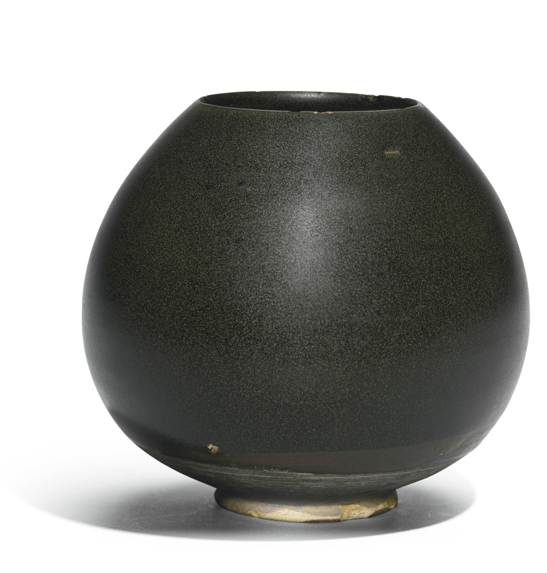 A Northern black ware lotus bud-form jar, Northern Song-Jin dynasty