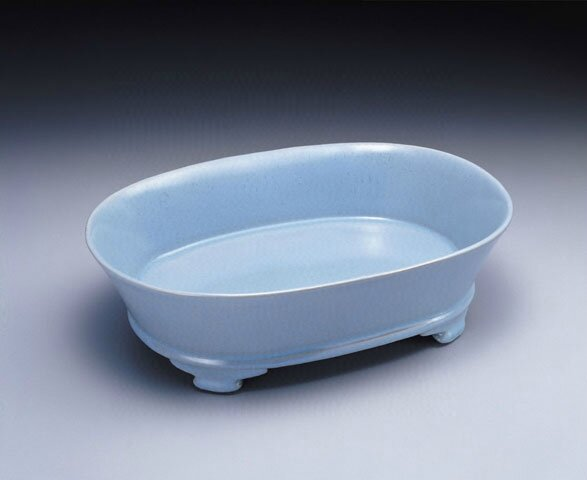 Narcissus basin in bluish-green glaze, Ru ware, Late 11th - early 12th centuries