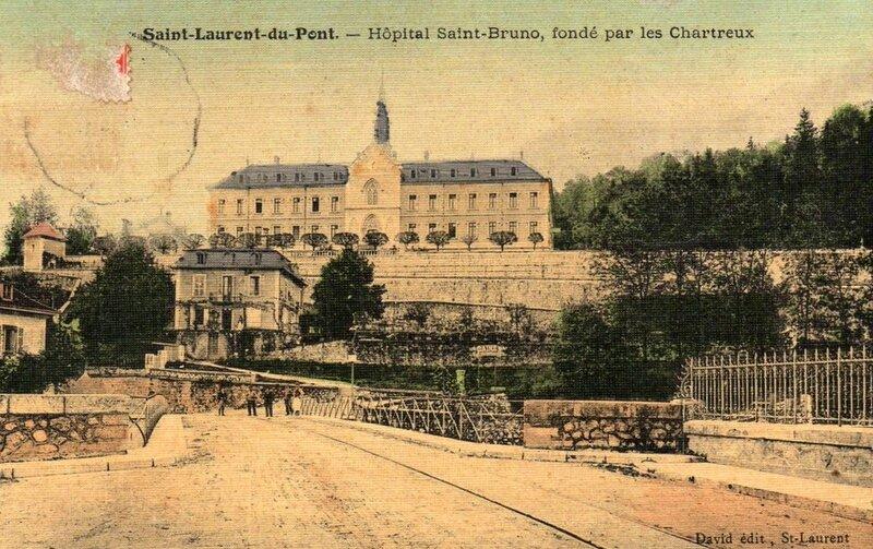 Hôpital St-Laurent-du-Pont colorisé