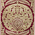 A large ottoman voided silk velvet panel (yastik), turkey, probably bursa, circa 1700
