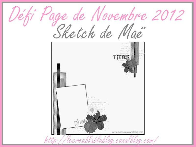 Défi Page Novembre 2012