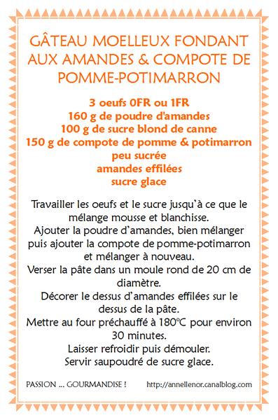 Gâteau moelleux fondant aux amandes & compote de pomme-potimarron_fiche