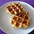 Waffles ou gaufres liégeoises